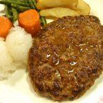 肉汁の洪水!「ザ・ハンバーグ高田馬場店」の『自家製ハンバーグセット(150g)』