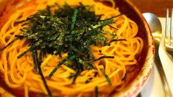 恵比寿で食べる『タラコとウニのスパゲティー』