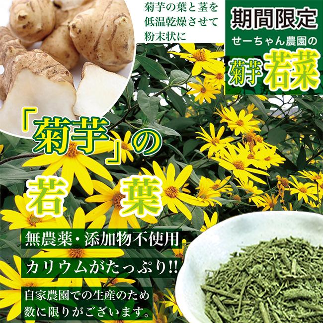 お茶のように飲める「菊芋の若葉茶」
