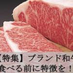 【特集】ブランド和牛 食べる前に特徴を!