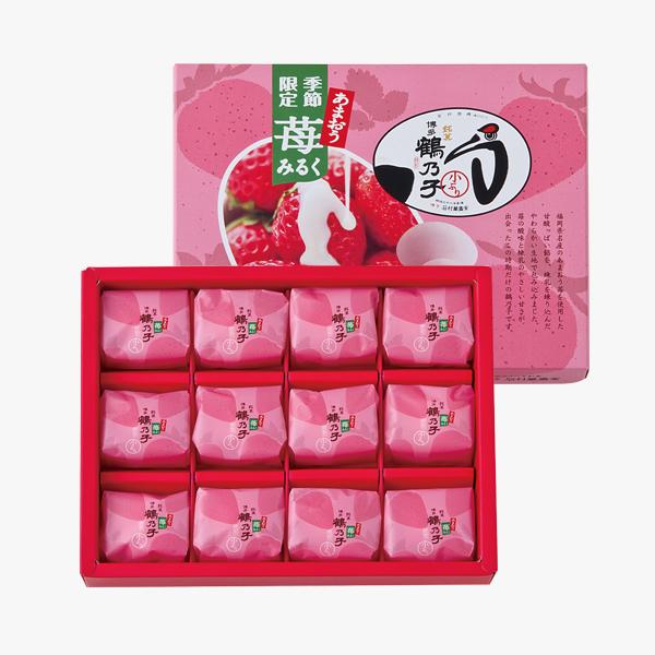 「石村萬盛堂」自信の季節菓子『あまおう苺みるく鶴乃子』の魅力